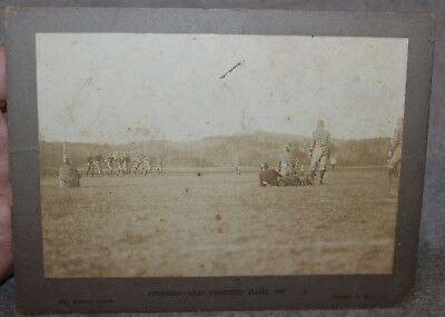 1919 Football Cabinet Photo St. Pauls School Isthmian Vs Old One Hundred Game
