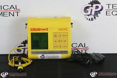 Proceq Equotip 2 Portable Hardness Gauge Ultrasonic Flaw Detector NDT PMI MIC10