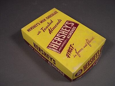 WWII Vintage Hershey's with Almonds Candy Bars Box Top
