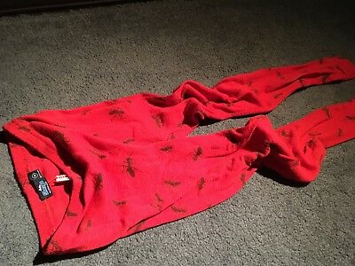 Sherpa Sz 10 Y Thermal Leggings- Red Ants, Warm & Stretchy, Vgc