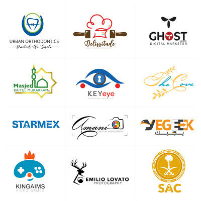 Professional Business Custom Logo Graphic Design - Unlimited Revisions - Vector