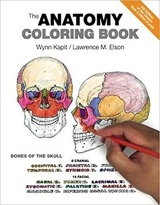 The Anatomy Coloring Book 4th Edition by Wynn Kapit [384 pages] [Paperback] NEW