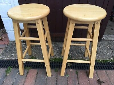 Tremendous Round Bar Stools Wooden Kitchen Stools Pair Of Breakfast Pabps2019 Chair Design Images Pabps2019Com