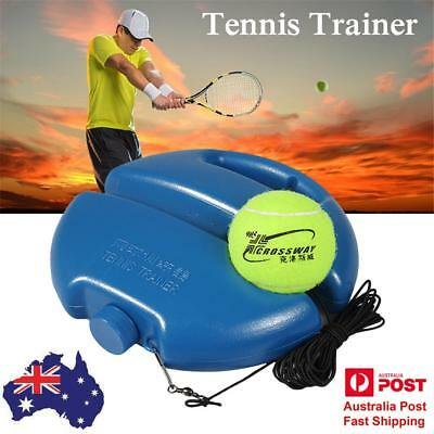 Outdoor Tennis Practice Drills Back Base Trainer Exercise Tennis Ball Singles AU