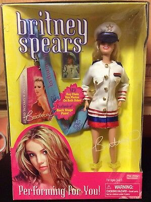 Britney Spears Performing For You Doll Captain's Outfit Brand New Sealed