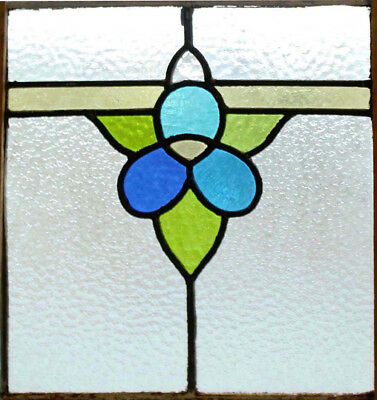 Pretty Art Deco Original Stained Glass Window