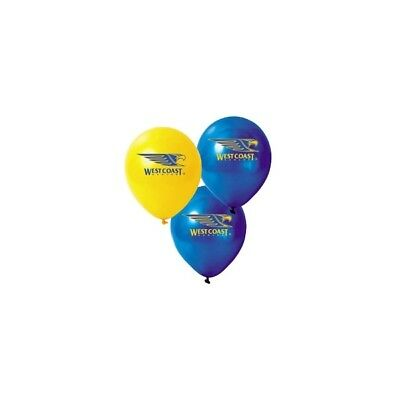 West Coast Eagles Official AFL x 6 Balloons Double Sided Print