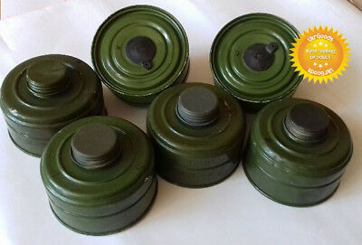 6 pcs New Charcoal Filters for Soviet Russian Military Gas mask GP-5 40mm