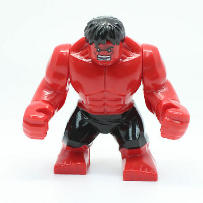 Marvel Super Heroes Red Incredible Hulk Mini Figure Avengers,Spiderman Fit lego