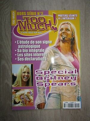 """Britney spears - MAGAZINE """"Too much"""" SUPER RARE 2000 (French)"""