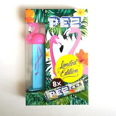 PEZ Spender Floyd Flamingo Limited Edition 8x Bonbons Top in OVP