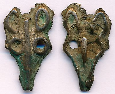 China, Inner Mongolia Ordos Late Bronze Age 1600-1200 BC, Deer face money. Rare.