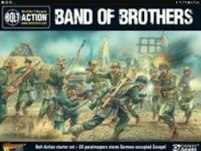 Bolt Action Band of Brothers 2 starter set painted troops, painted half track.