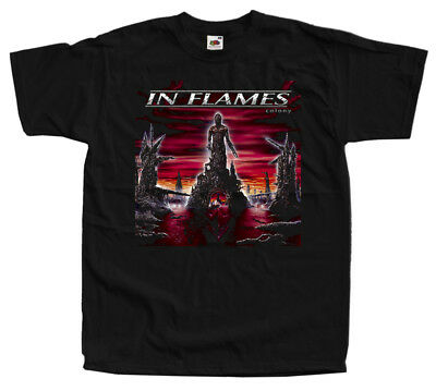 In Flames - Colony, album cover DTG T SHIRT BLACK all sizes S-5XL