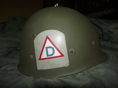Wwii Us M1 Helmet Liner Original Usa Westinghouse  Ww2 Officer Civil Defense