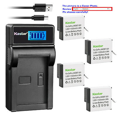 Kastar Battery USB LCD Charger for GoPro AHDBT-501 & Gopro Hero 5 Action Camera