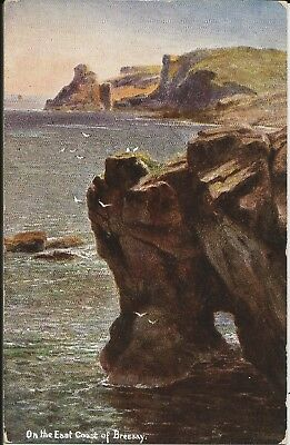 East coast of Bressay, Shetland, on Hildesheimer artist-drawn colour postcard