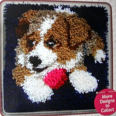 """Latch Hook   Rug/ Pillow  Kit  """"a Puppy"""" Latch Tool Included"""