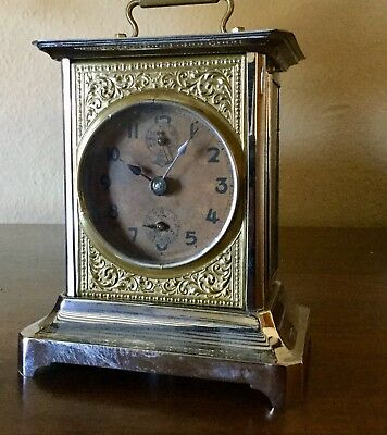 Working Mantel/Carriage Clock, good condition, moving parts visible, ideal gift