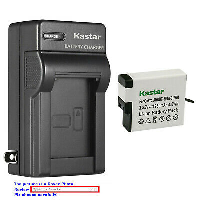 Kastar Battery AC Wall Charger for GoPro AHDBT-501 & Gopro Hero 5 Action Camera