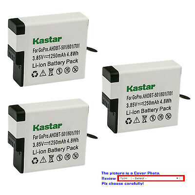 Kastar Replacement Battery for GoPro AHDBT-501 Gopro5 GoPro Hero 5 HD Black