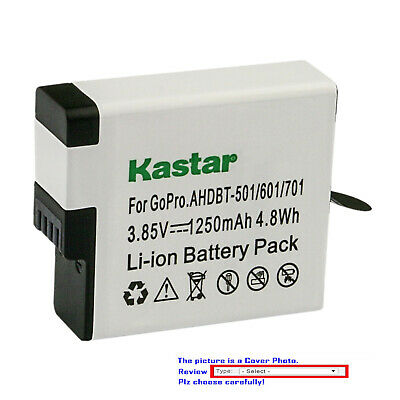 Kastar Replacement Battery for GoPro AHDBT-501 Hero 5 GoPro Hero5 HD Silver