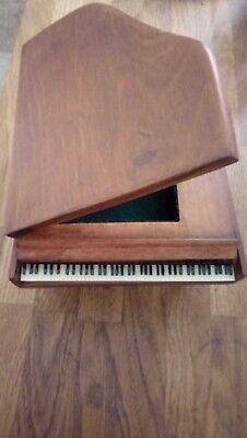 HAND CRAFTED Music Box with storage  in full working order 30 + years old