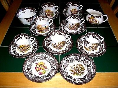 Royal Worcester Palissy Game Seriies 18 Piece Part Tea Service