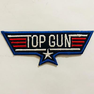 Top Gun USA Air Force Military Embroidered Iron On Sew On Patch Bagde New 578 SH