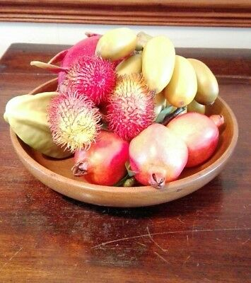 9 Mixed Pieces of Artificial Tropical Fruit Realistic Decorative