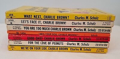 Peanuts Snoopy Charlie Brown Lot of 7 Books Charles Schulz