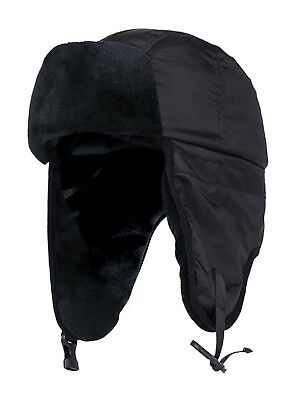 Heat Holders - Mens Fleece Lined Waterproof Winter Warm Thermal Ski Trapper Hat
