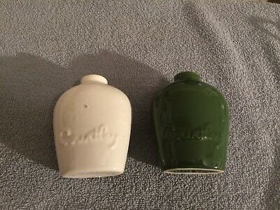 Vintage old collectible coors pottery ceramic Courtley cologne flask bottles