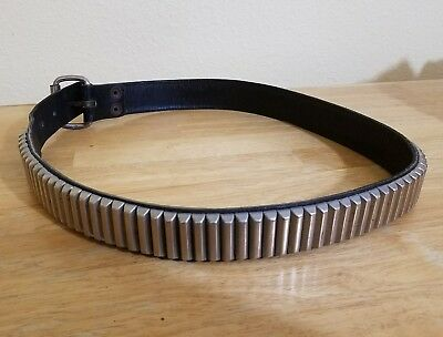 Vintage Unisex North & Judd Leather Belt Studded Motorcycle Western mens