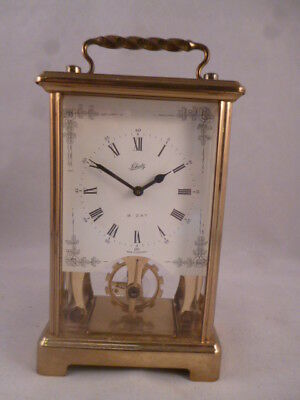 Vintage Clock by Schatz Floral Dial 8 Day Movement Working