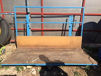 Blue 'Steely' Sheet/Board Trolley, used in good condition
