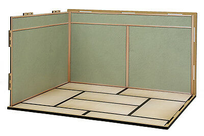[Hakoniwagiken] Diorama Room M (1/12) SET08 Japanese room A  flooring + wall