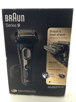 Braun Series 9 9240s Mens Wet & Dry Electric Foil Shaver Rechargeable & Cordless