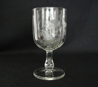EAPG Clover and Daisy Goblet Early American Pattern Glass ca.1880s