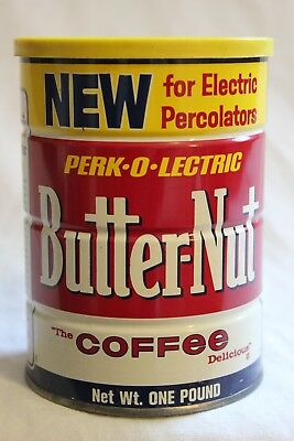 Vintage Butter Nut Coffee Can Tin 1 Lb