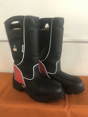 Fire-Dex FDXL-100 Fire-Dex Red Leather Structural Fire Fighting Boot, SIZE 11W