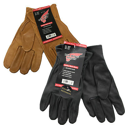 Red Wing Leather Durable Genuine Soft Buckskin Leather Unlined Work Gloves