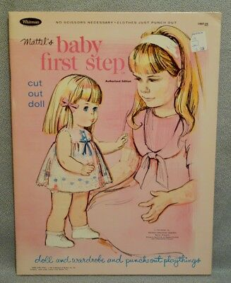 1965 BABY FIRST STEP Paper Doll Book - UNCUT & MINT