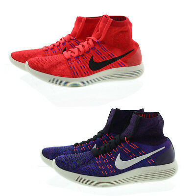 online store 6c0f6 e8464 NIKE 818676 MENS Flyknit Lunarepic High Top Running Athletic Shoes Sneakers