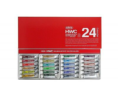 Holbein Artists Transparent Watercolor W405 24 Colors Set 5ml Tubes HWC24