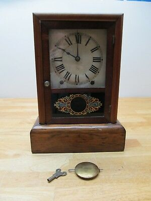 Antique Seth Thomas Wood Case Shelf or Mantle Clock. For Parts or Repair.
