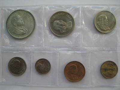 South Africa Mint 1969 sealed year set 1 Cent to silver 1 Rand