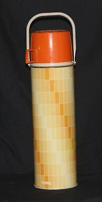 "Vintage ""Thermos"" Orange Coffee Thermos, Holds 4 Cups"