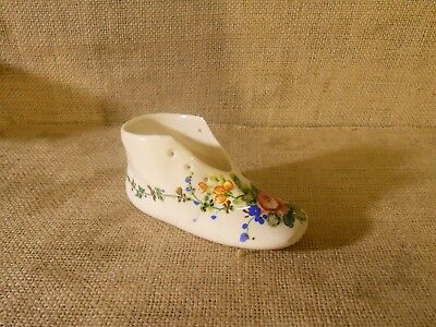 Vintage Hand Painted Ceramic Shoe -Made in Italy