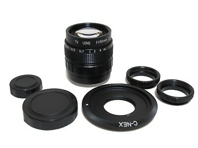 Fujian-50mm F1.4 CCTV Movie Cine Lens w/ C-NEX to Sony NEX NEX3 NEX5 NEX7 NEX-5C